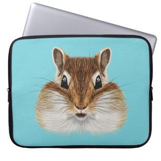 Illustrated portrait of Chipmunk. Laptop Sleeve