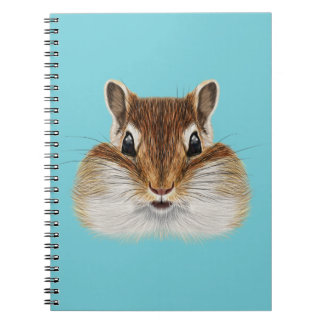 Illustrated portrait of Chipmunk. Notebook
