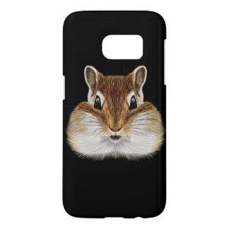 Illustrated portrait of Chipmunk. Samsung Galaxy S7 Case