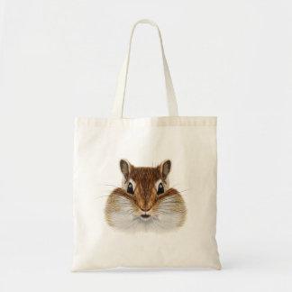 Illustrated portrait of Chipmunk. Tote Bag