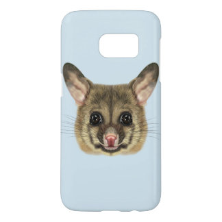 Illustrated portrait of Common brushtail possum. Samsung Galaxy S7 Case