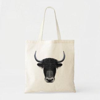 Illustrated portrait of Domestic yak.