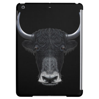 Illustrated portrait of Domestic yak. Case For iPad Air