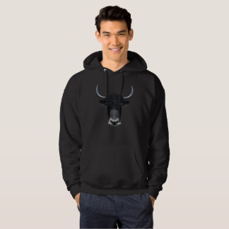 Illustrated portrait of Domestic yak. Hoodie