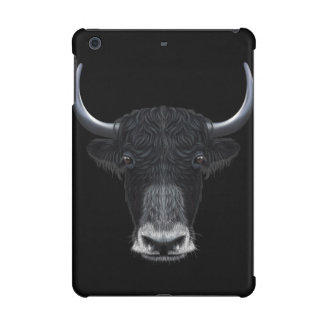 Illustrated portrait of Domestic yak. iPad Mini Covers