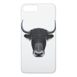 Illustrated portrait of Domestic yak. iPhone 8 Plus/7 Plus Case