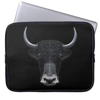 Illustrated portrait of Domestic yak. Laptop Sleeve