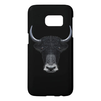 Illustrated portrait of Domestic yak. Samsung Galaxy S7 Case