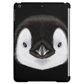 Illustrated portrait of Emperor penguin chick. iPad Air Case