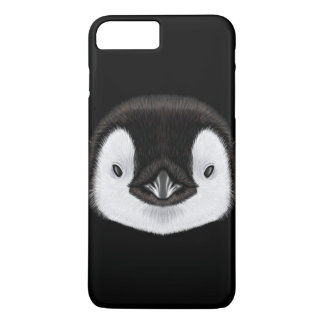 Illustrated portrait of Emperor penguin chick. iPhone 8 Plus/7 Plus Case