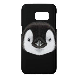 Illustrated portrait of Emperor penguin chick. Samsung Galaxy S7 Case