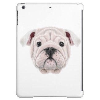 Illustrated portrait of English Bulldog puppy. iPad Air Case