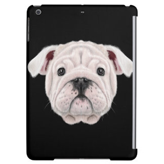 Illustrated portrait of English Bulldog puppy. iPad Air Covers