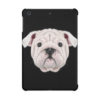 Illustrated portrait of English Bulldog puppy. iPad Mini Retina Case