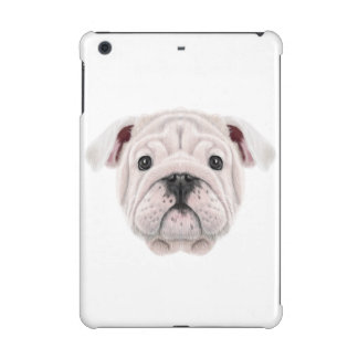 Illustrated portrait of English Bulldog puppy. iPad Mini Retina Cover