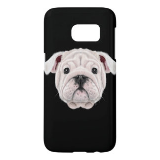 Illustrated portrait of English Bulldog puppy. Samsung Galaxy S7 Case