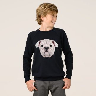 Illustrated portrait of English Bulldog puppy. Sweatshirt