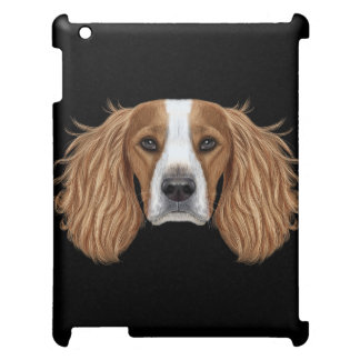 Illustrated Portrait of English Springer Spaniel. Case For The iPad 2 3 4