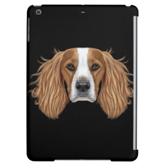 Illustrated Portrait of English Springer Spaniel. iPad Air Cases