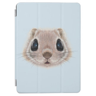 Illustrated portrait of Flying squirrel. iPad Air Cover