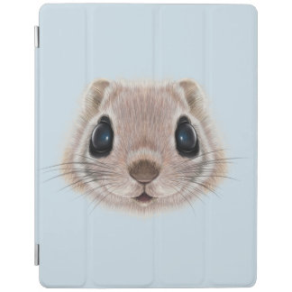 Illustrated portrait of Flying squirrel. iPad Cover