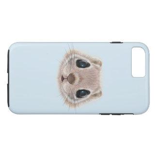 Illustrated portrait of Flying squirrel. iPhone 8 Plus/7 Plus Case