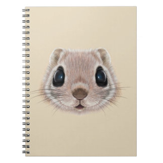 Illustrated portrait of Flying squirrel. Note Books