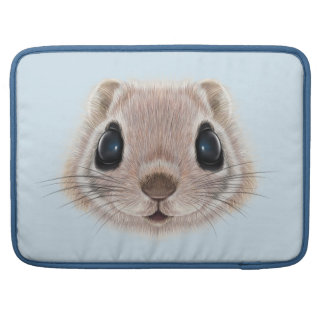 Illustrated portrait of Flying squirrel. Sleeves For MacBooks