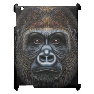 Illustrated portrait of Gorilla male. Cover For The iPad