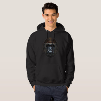 Illustrated portrait of Gorilla male. Hoodie