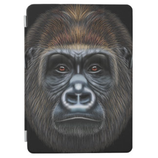 Illustrated portrait of Gorilla male. iPad Air Cover