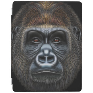 Illustrated portrait of Gorilla male. iPad Cover