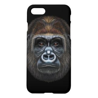 Illustrated portrait of Gorilla male. iPhone 8/7 Case