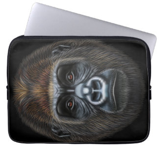 Illustrated portrait of Gorilla male. Laptop Sleeve