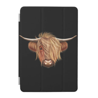 Illustrated portrait of Highland cattle. iPad Mini Cover