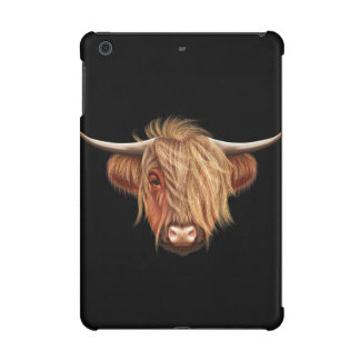 Illustrated portrait of Highland cattle. iPad Mini Covers