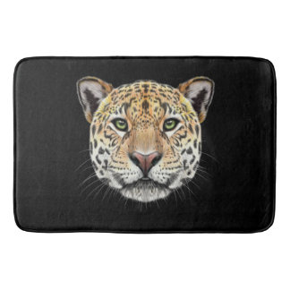 Illustrated portrait of Jaguar. Bath Mat