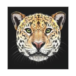 Illustrated portrait of Jaguar. Canvas Print