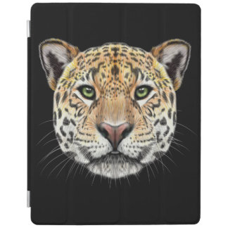 Illustrated portrait of Jaguar. iPad Cover