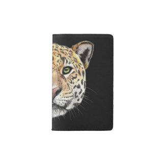 Illustrated portrait of Jaguar. Pocket Moleskine Notebook