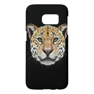 Illustrated portrait of Jaguar. Samsung Galaxy S7 Case