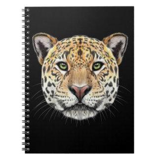 Illustrated portrait of Jaguar. Spiral Note Book