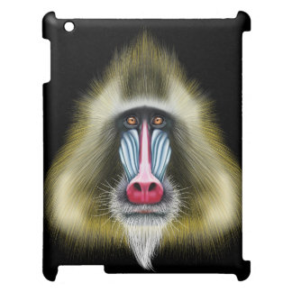 Illustrated portrait of Mandrill monkey. Case For The iPad 2 3 4