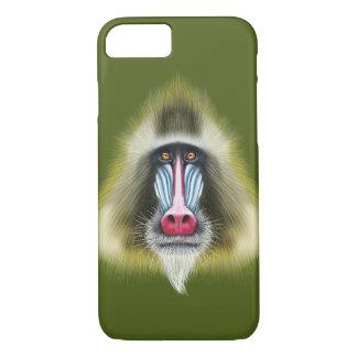 Illustrated portrait of Mandrill monkey. Case-Mate iPhone Case