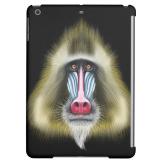 Illustrated portrait of Mandrill monkey. Cover For iPad Air