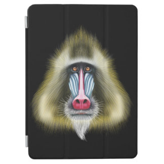 Illustrated portrait of Mandrill monkey. iPad Air Cover