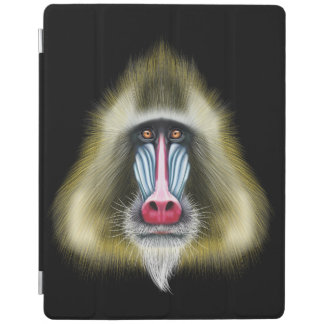 Illustrated portrait of Mandrill monkey. iPad Cover