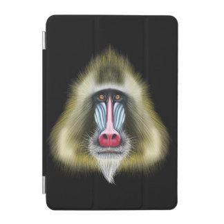 Illustrated portrait of Mandrill monkey. iPad Mini Cover