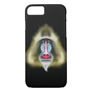 Illustrated portrait of Mandrill monkey. iPhone 8/7 Case