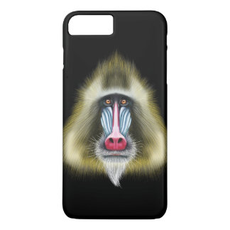 Illustrated portrait of Mandrill monkey. iPhone 8 Plus/7 Plus Case